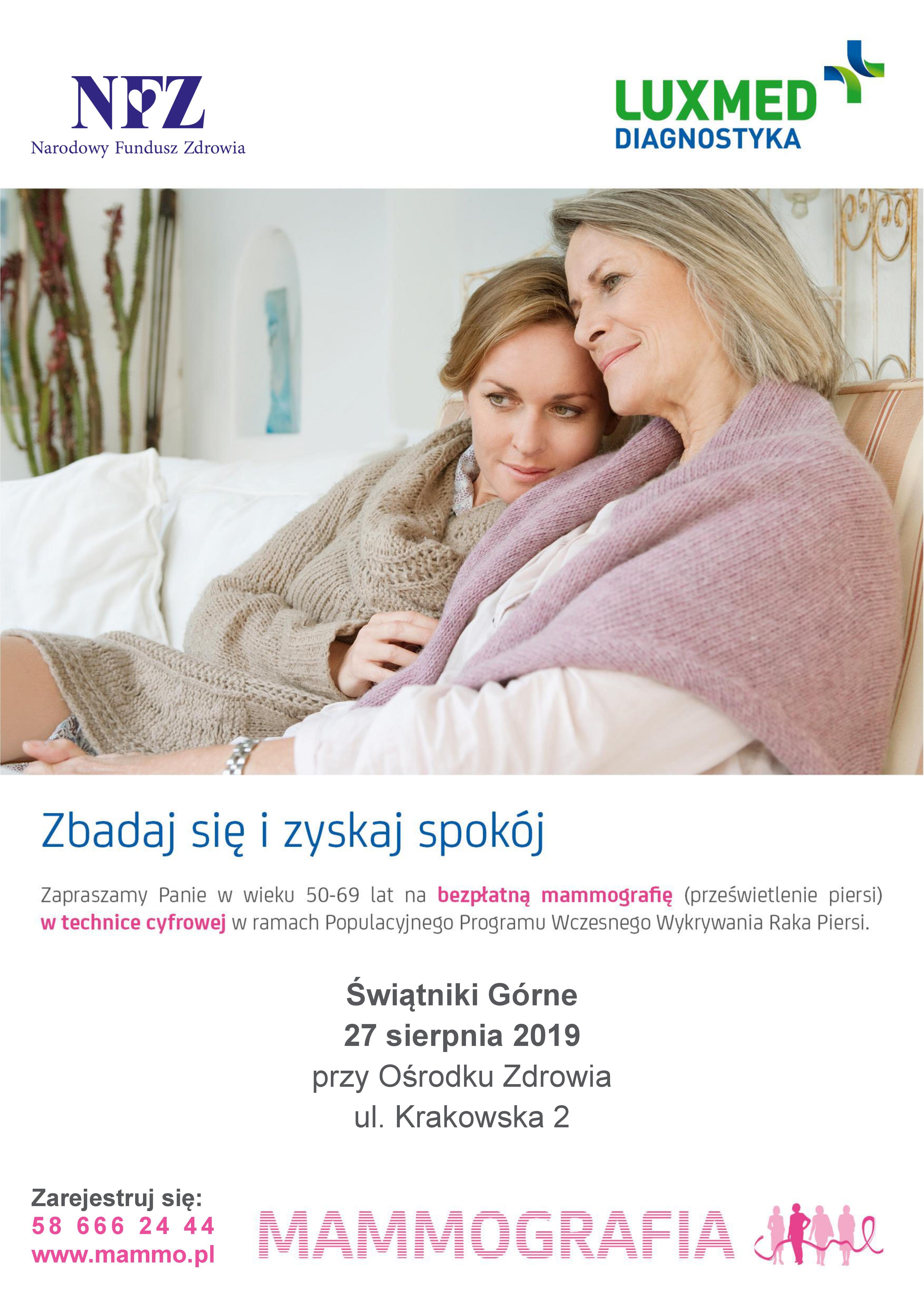 Bezpłatna Mammografia w Świątnikach Górnych @ Ośrodek Zdrowia | Świątniki Górne | małopolskie | Polska