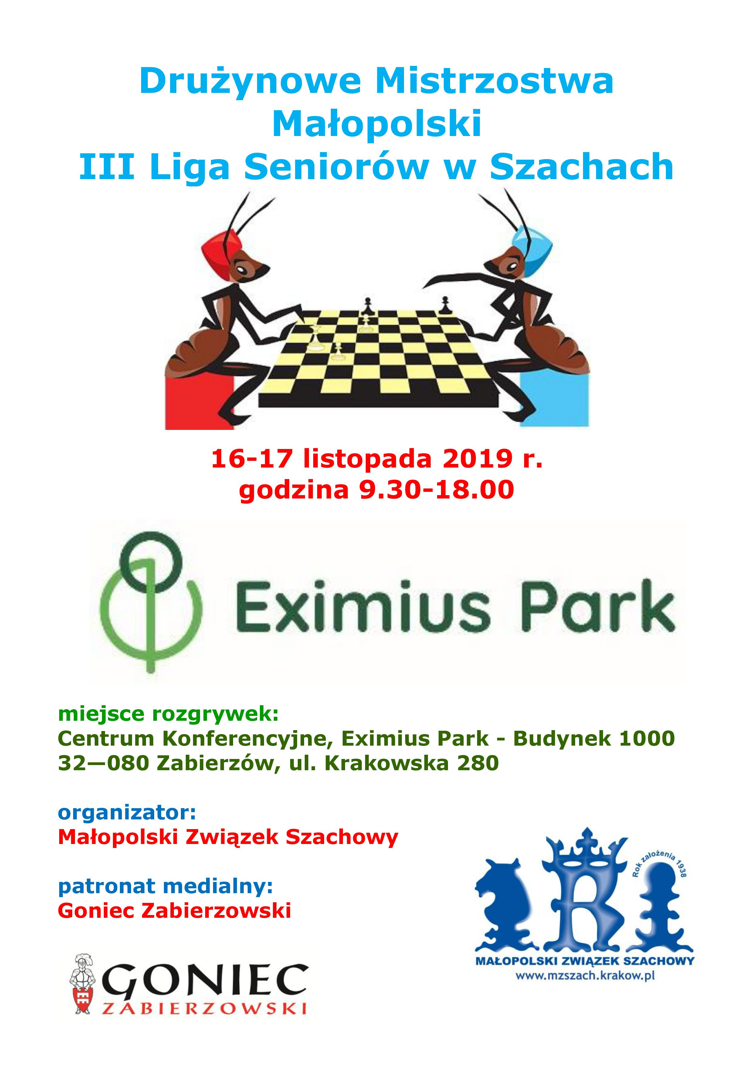 Drużynowe Mistrzostwa Małopolski III Liga Seniorów w Szachach @ Zabierzów | małopolskie | Polska
