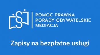 Link do strony dotyczącej zapisów na bezpłane usługi pomocy prawnej