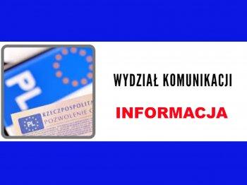 Informacja Wydziału Komunikacji