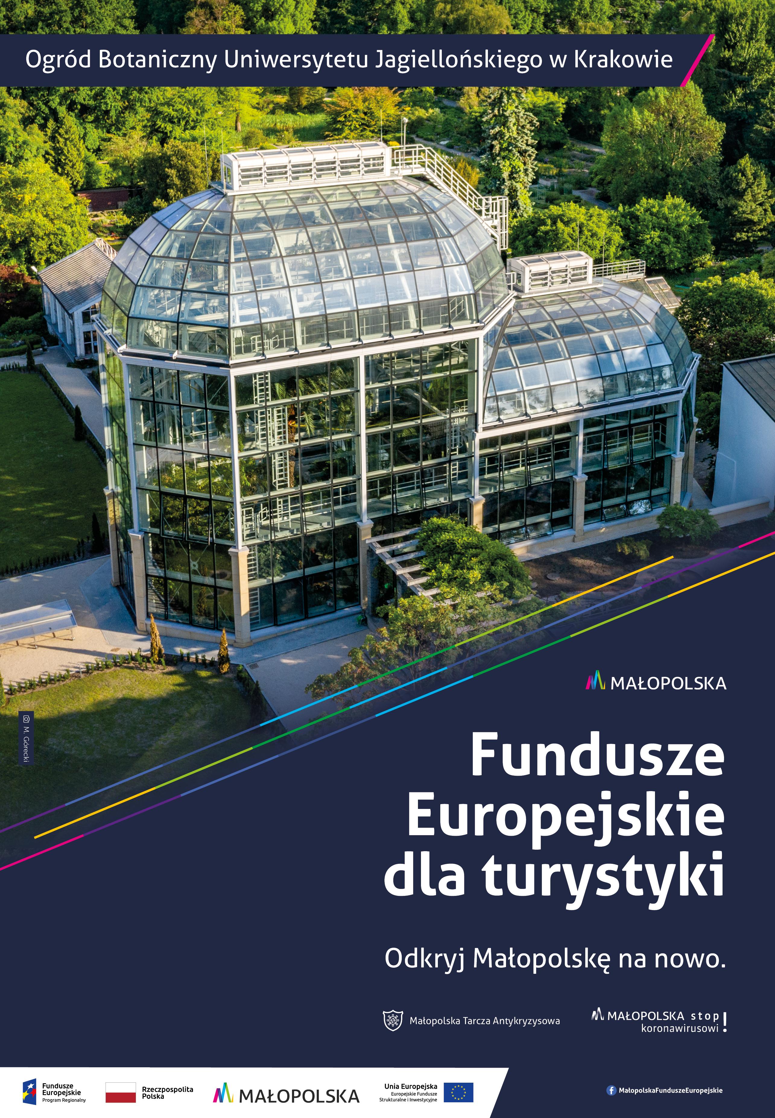 Fundusze europejskie dla turystyki - Ogród botaniczny UJ w Krakowie