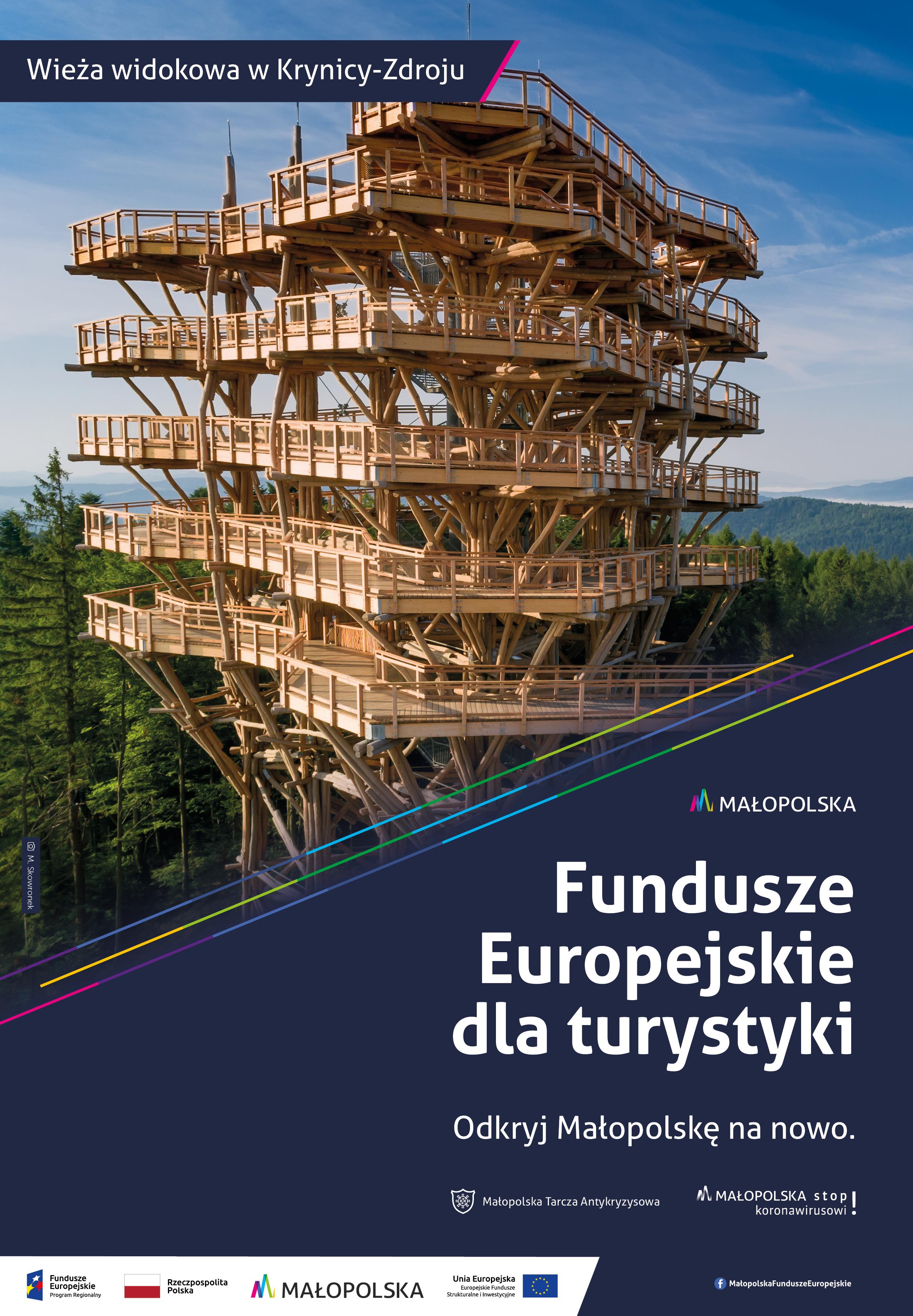 Fundusze europejskie dla turystyki - wieża widokowa w Krynicy-Zdroju