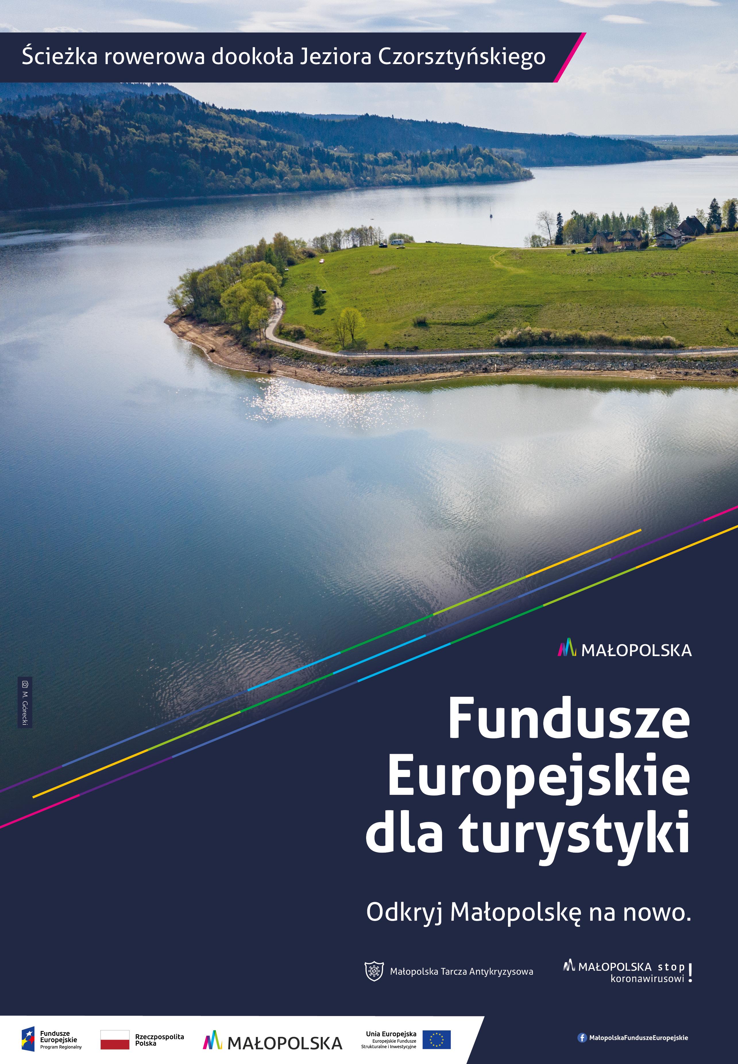 Fundusze europejskie dla turystyki - Ścieżka rowerowa dookoła Jeziora Czorsztyńskiego