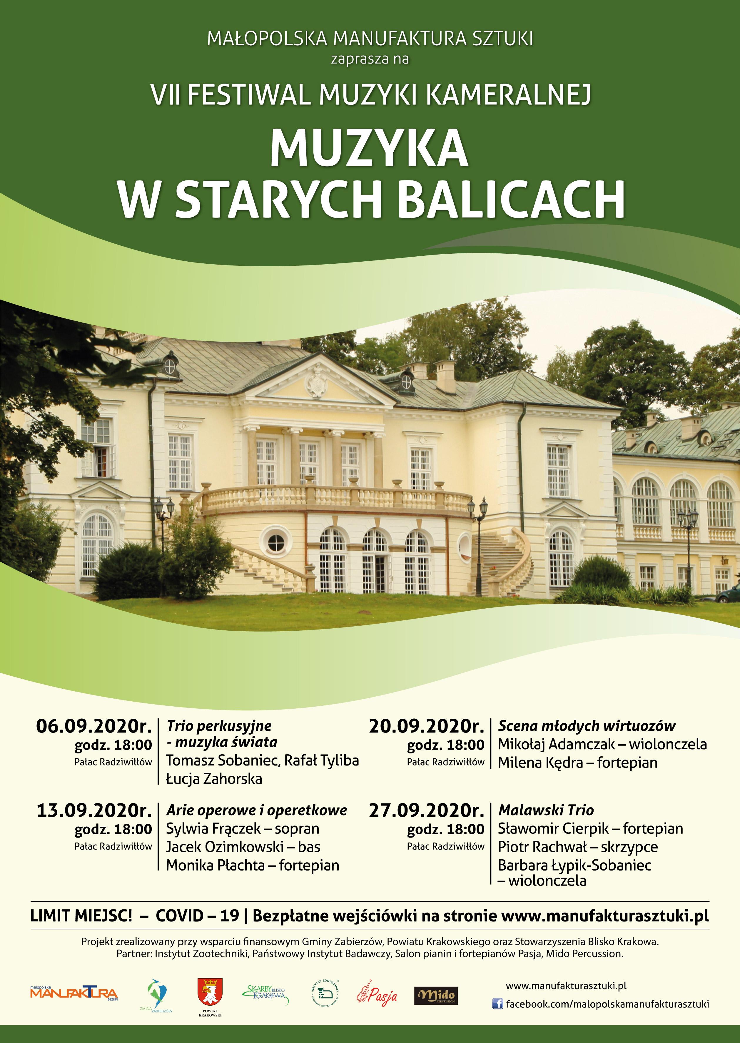 VII Festiwal Muzyki Kameralnej - Muzyka w Starych Balicach
