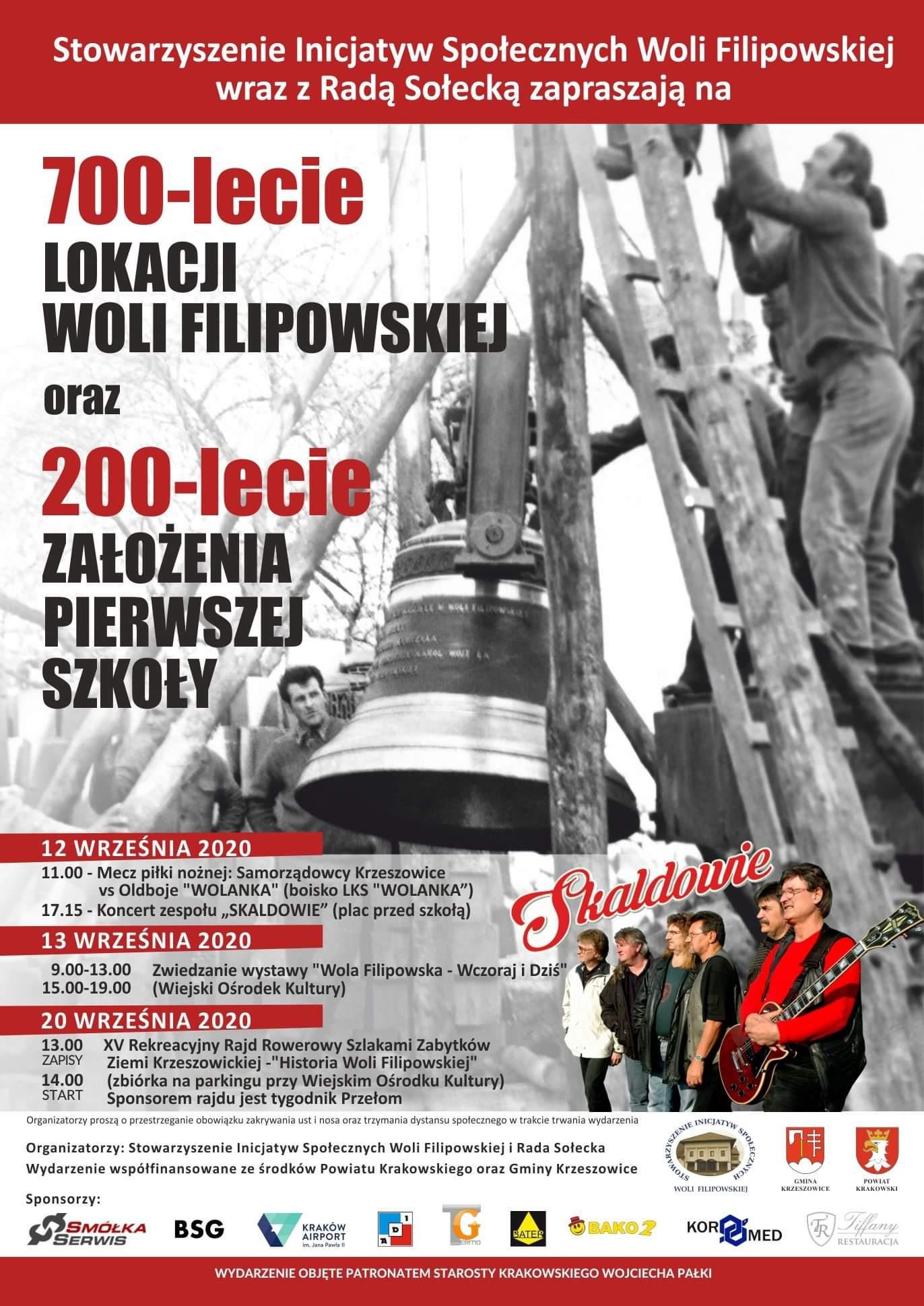 700-lecia lokacji Woli Filipowskiej oraz 200-lecia założenia pierwszej szkoły @ Wola Filipowska | Małopolskie | Polska