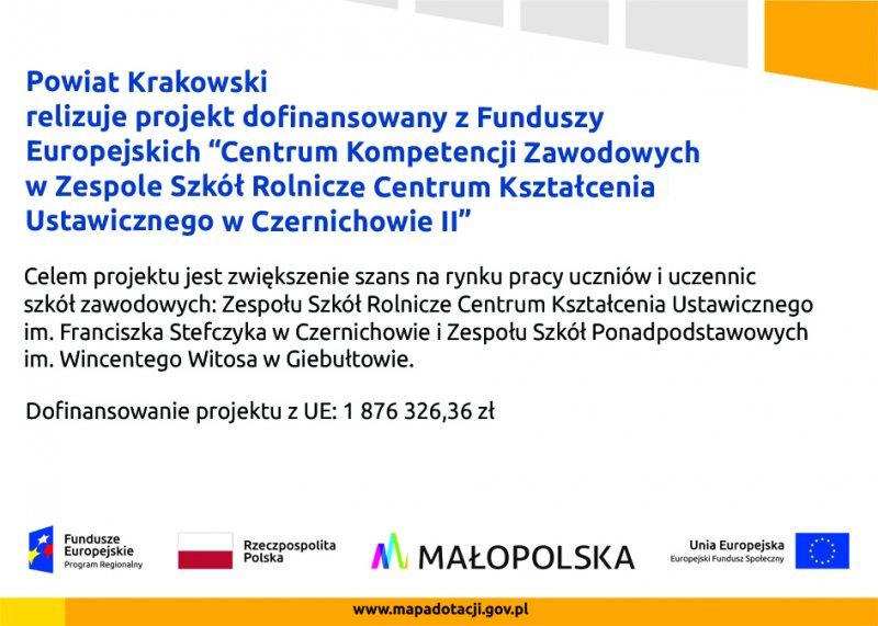 Plakat projektu Czernichów