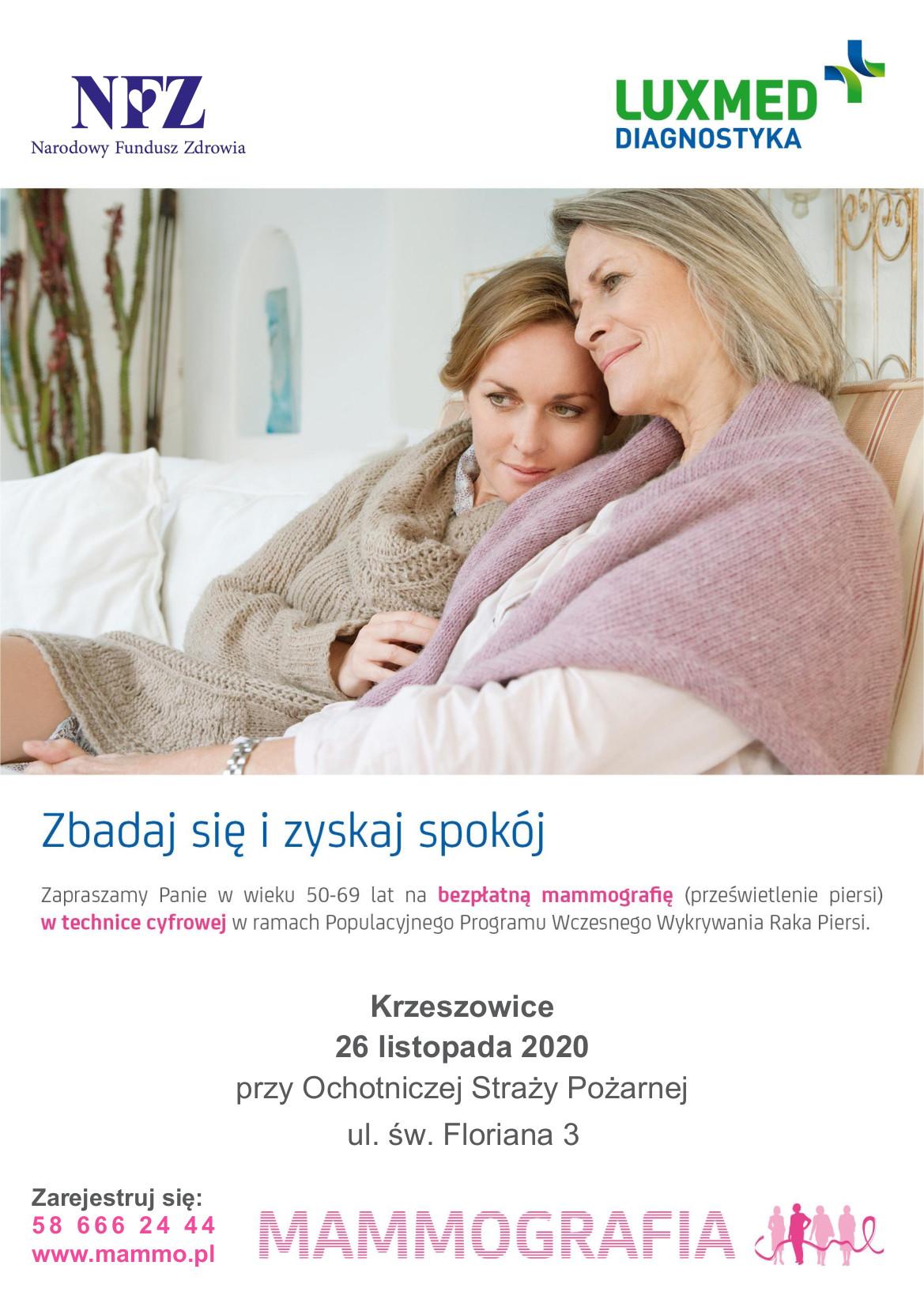 Bezpłatne badania mammograficzne @ Krzeszowice | Małopolskie | Polska