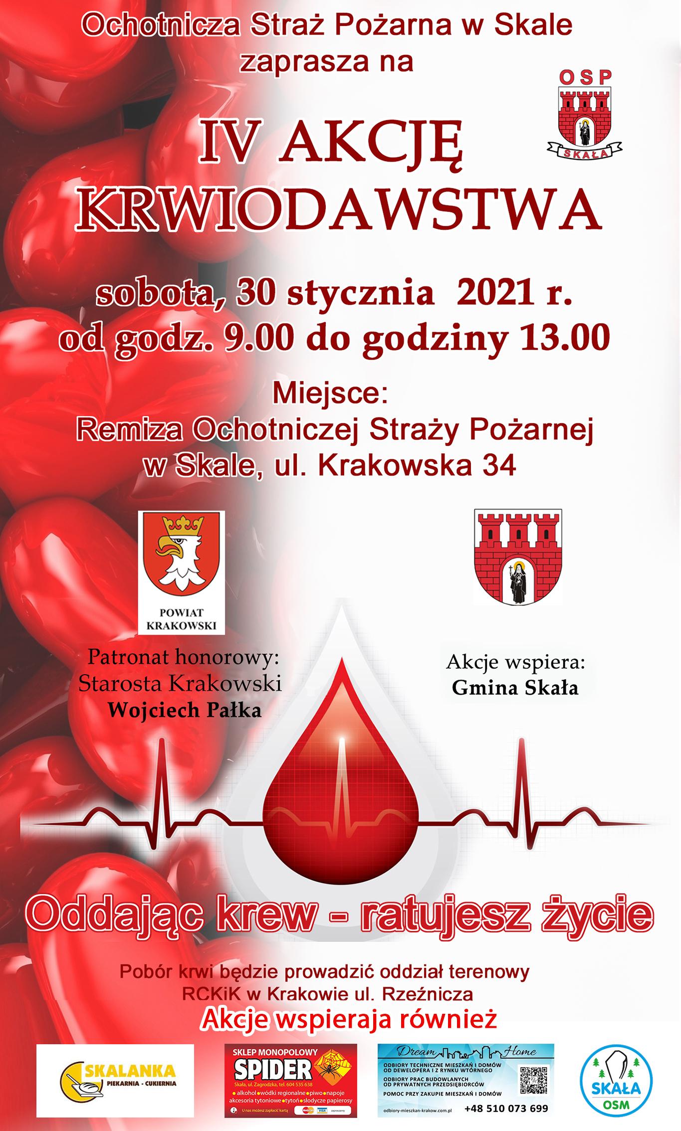 IV Akcja Krwiodawstwa w Skale @ Skała | Małopolskie | Polska