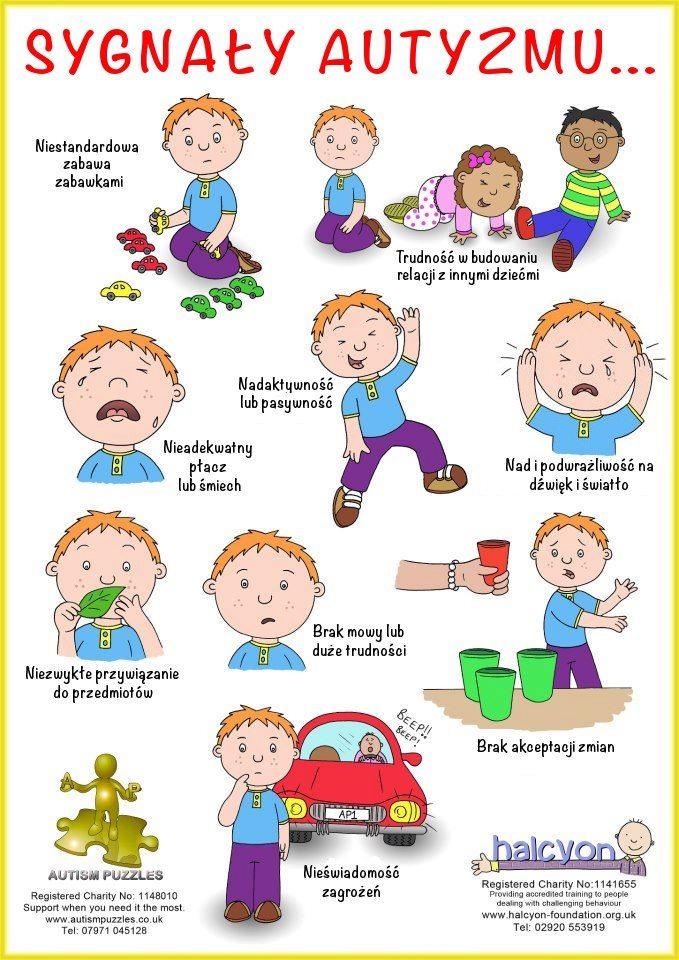 Sygnały autyzmu plakat