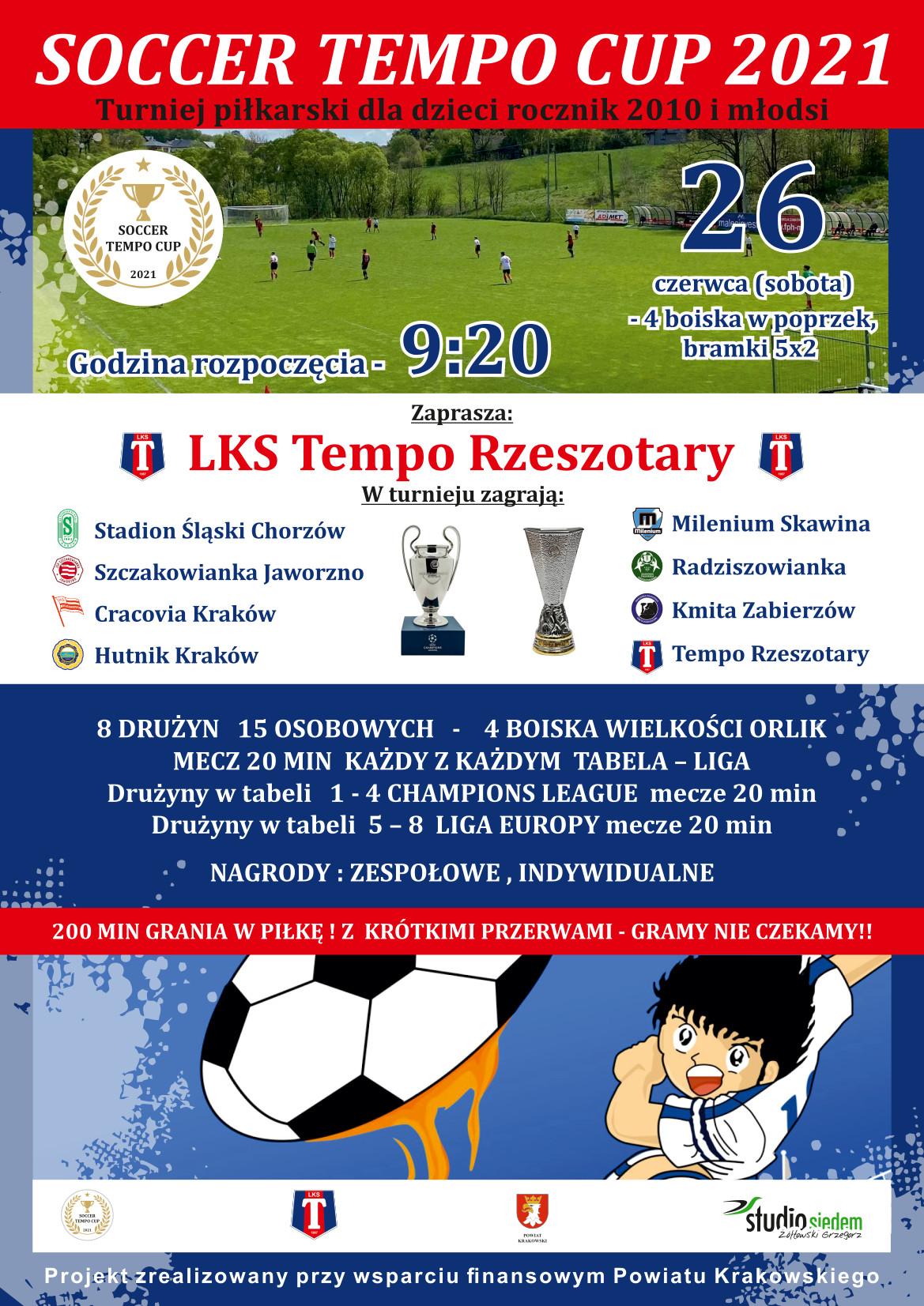 Turniej piłkarski dla dzieci SOCCER TEMPO CUP 2021