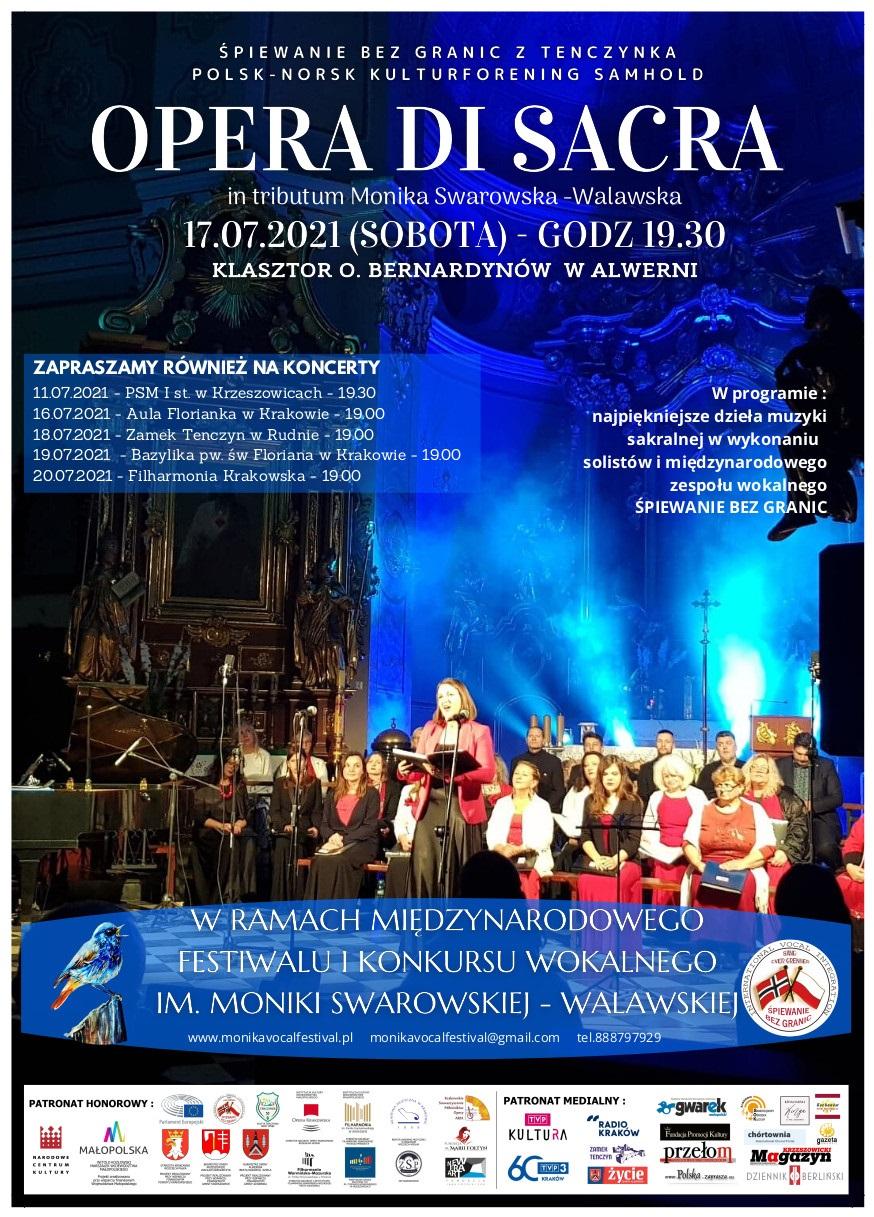 Opera Di Sacra - Międzynarodowy Festiwal i Konkurs Wokalny im. Moniki Swarowskiej-Walawskiej