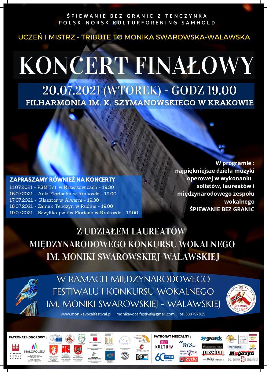 Koncert Finałowy - Międzynarodowy Festiwal i Konkurs Wokalny im. Moniki Swarowskiej-Walawskiej