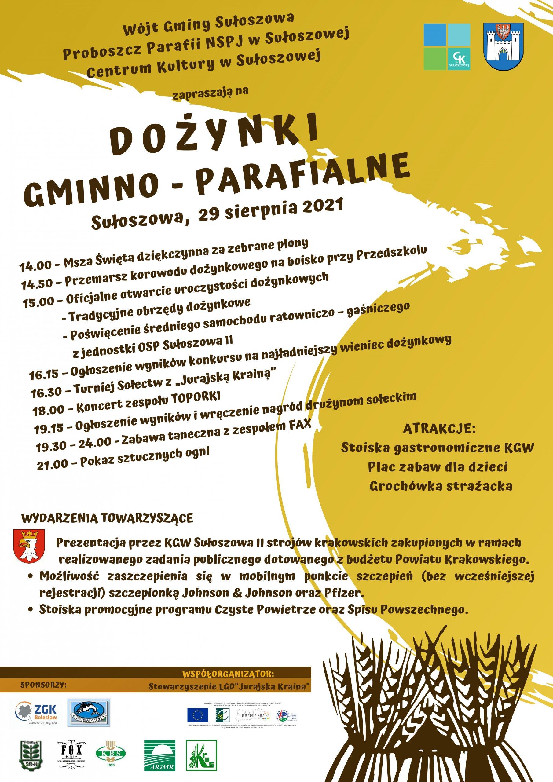 Dożynki gminno-parafialne w Sułoszowej