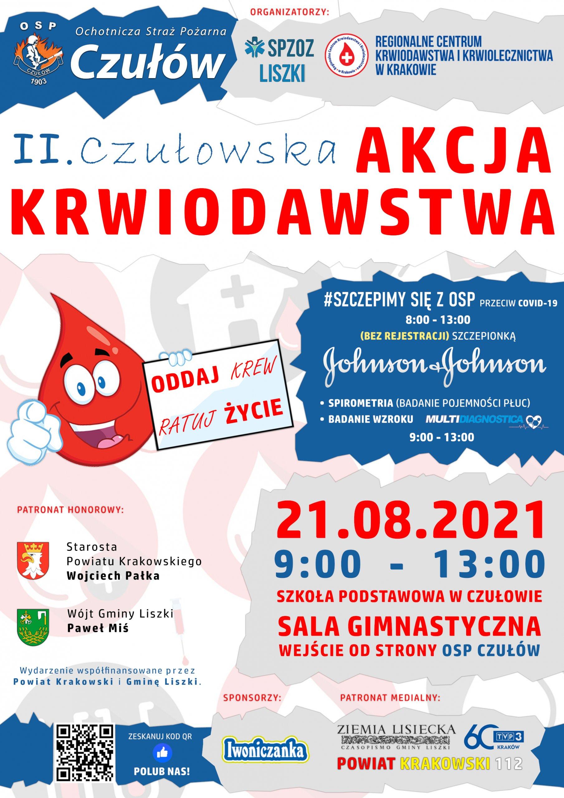 II Czułowska Akcja Krwiodawstwa @ Szkoła Podstawowa w Czułowie