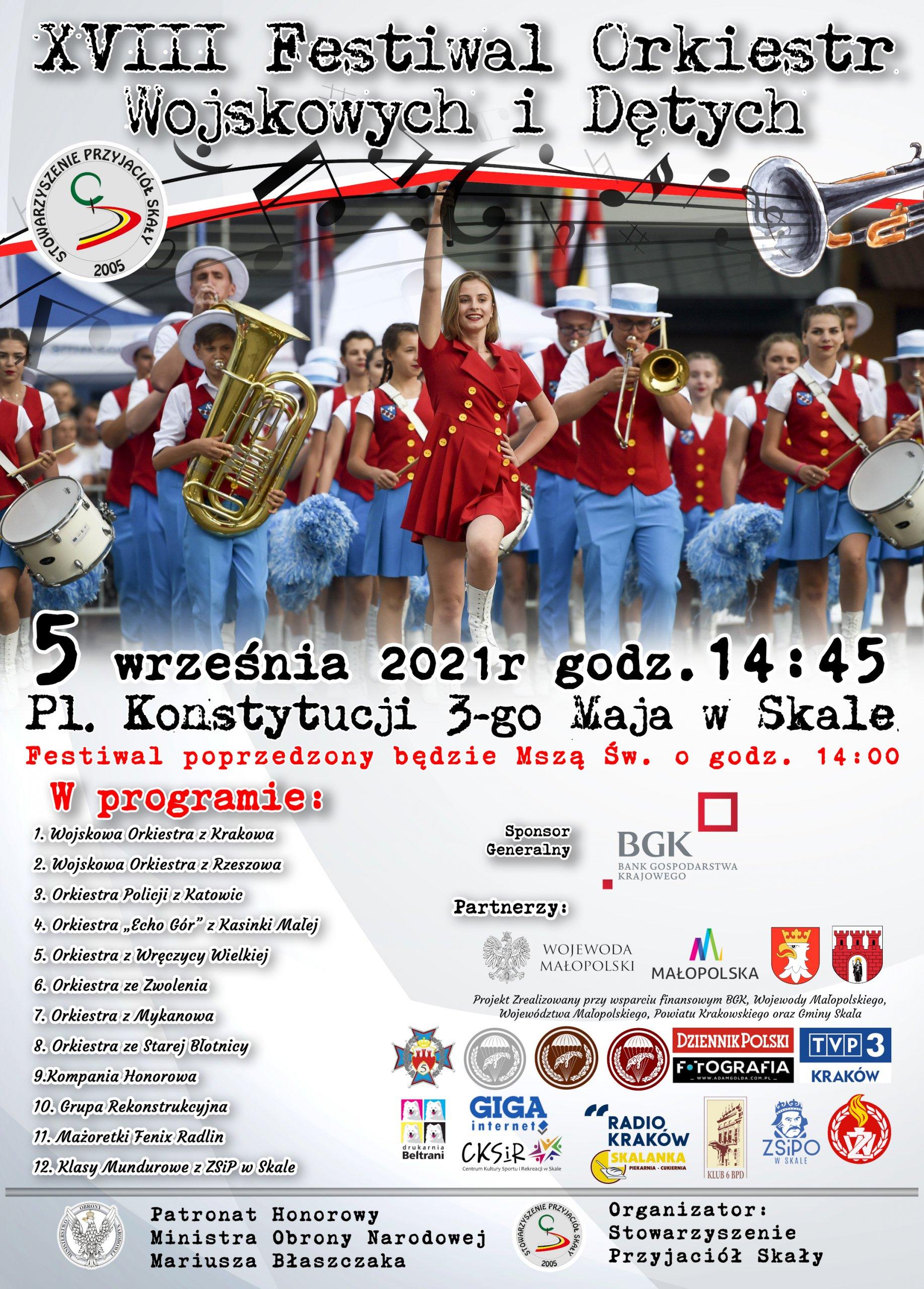 XVIII Festiwal Orkiestr Wojskowych i Dętych w Skale @ Skała, Plac Konstytucji 3 Maja