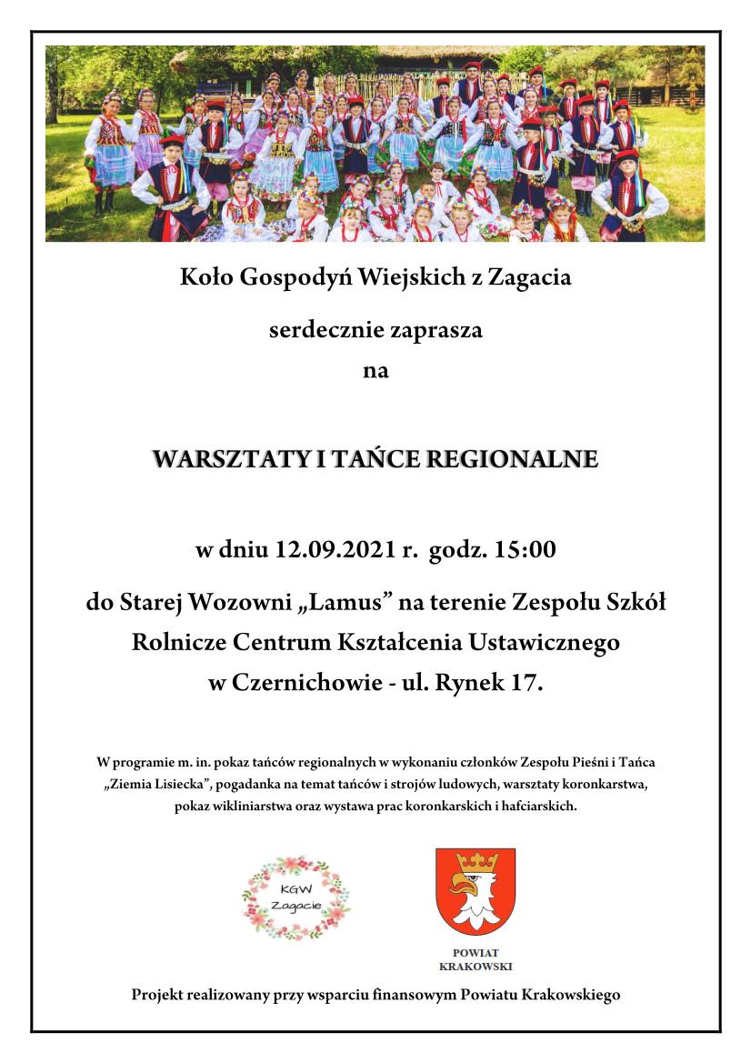 Warsztaty i tańce regionalne w Czernichowie