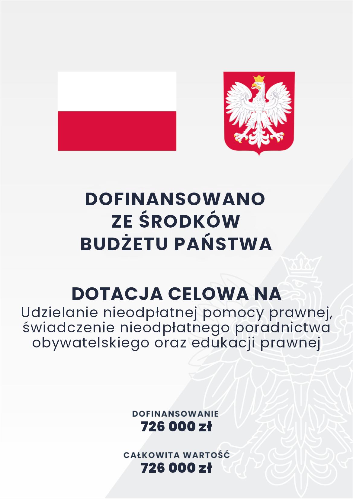 Plakat dofinansowano z budżetu państwa