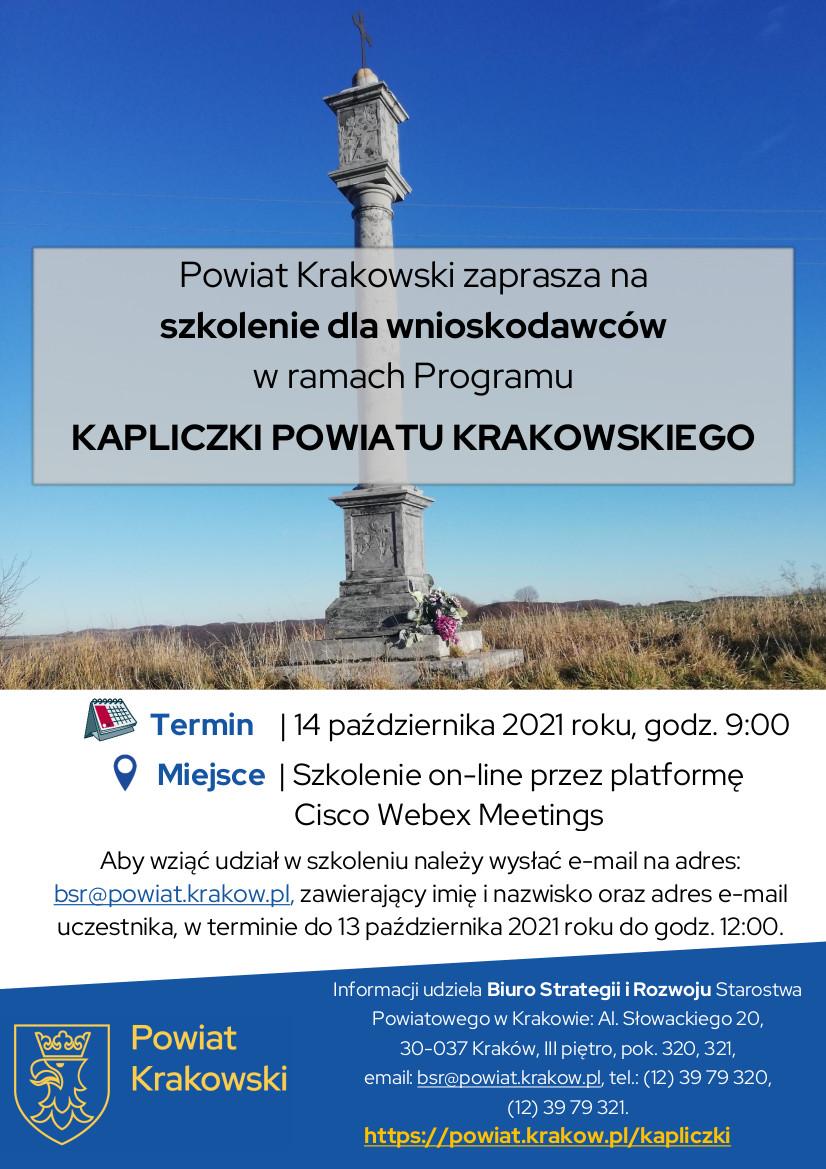 Plakat dot. szkolenia